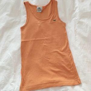ddc8214e3c Orange Lacoste ribbed tank top